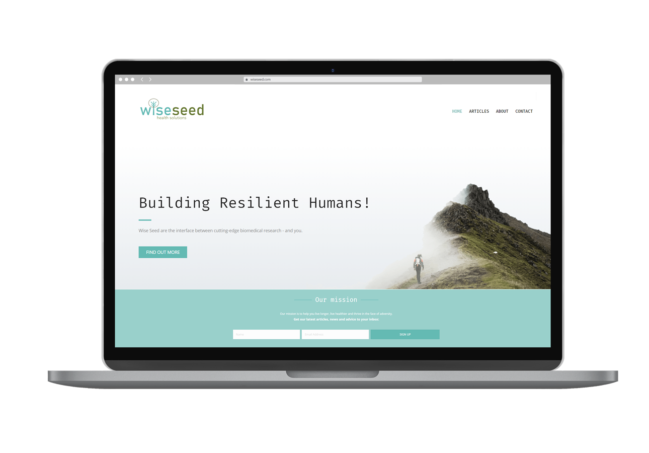 Wiseseed Health Solutions Website Design Laptop View By Rogue Web Design