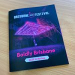 A5 Size Saddle Stitched Booklet Brisbane Festival Front Cover