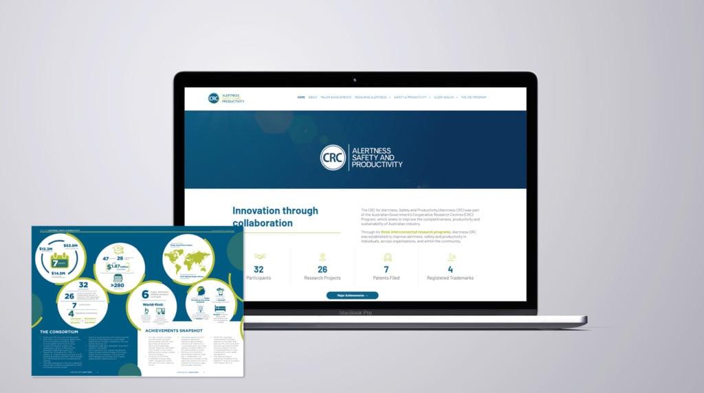 Alertness Crc Website And Legacy Book Design