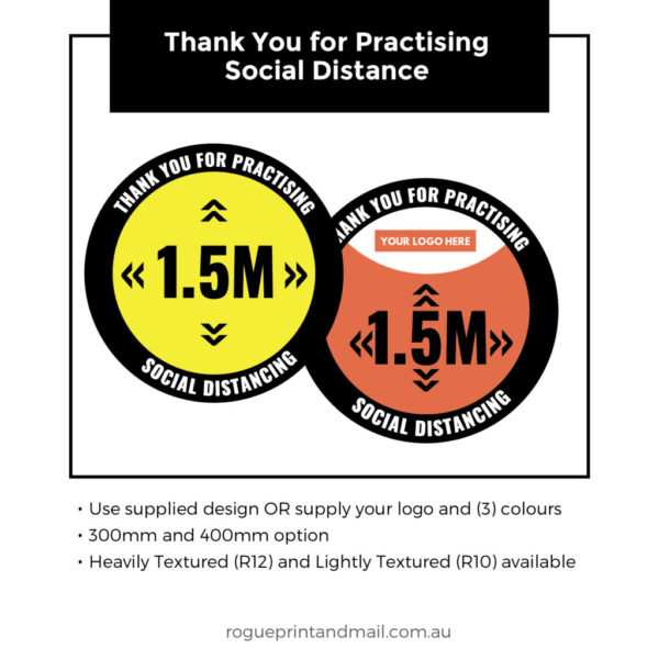 Anti Slip Floor Graphics Thank Your For Keeping Your Distance Copy 5