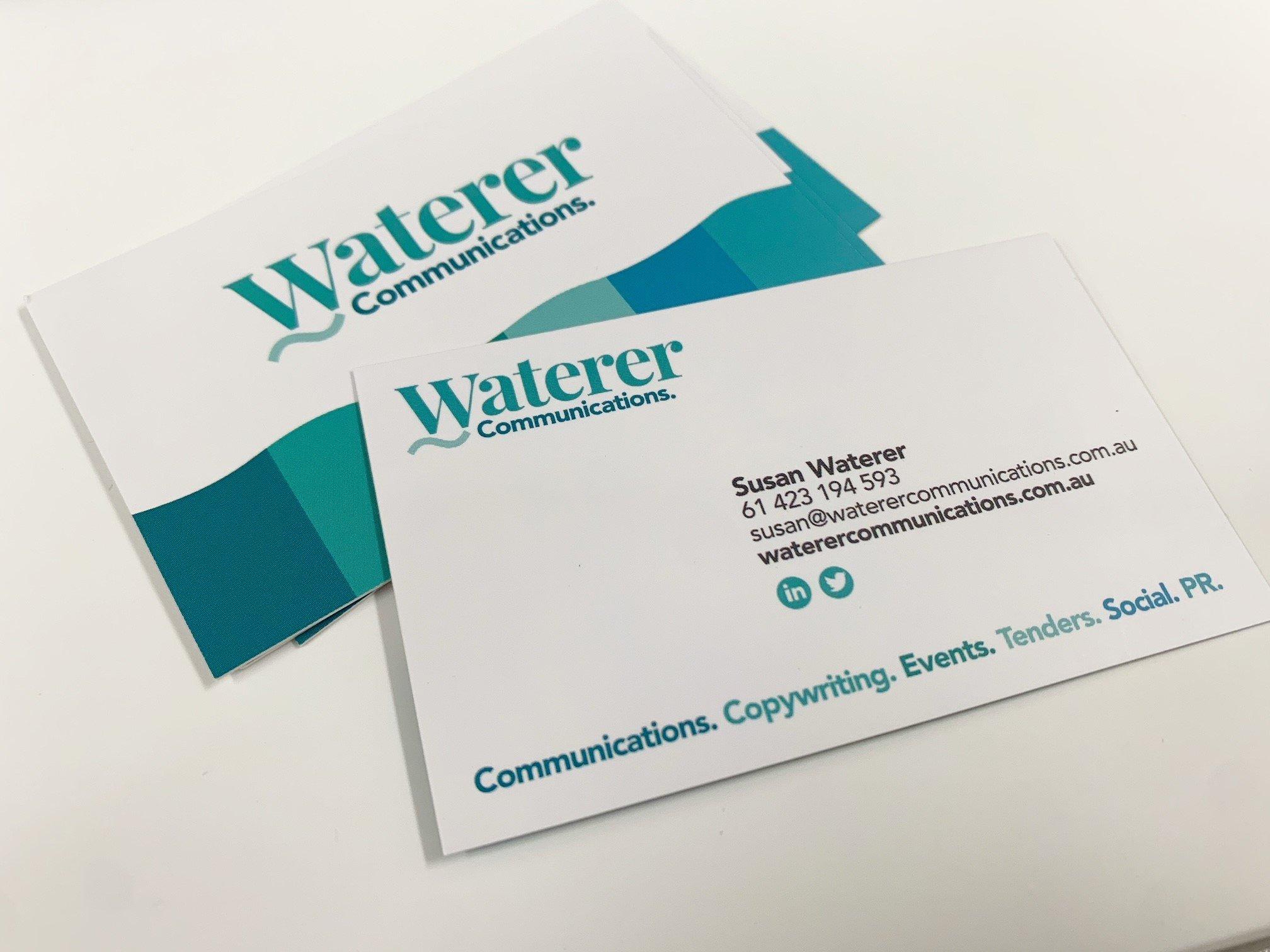 Business Card Printing Matt Cello Waterer Communications