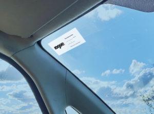 Car Service label printing on car window