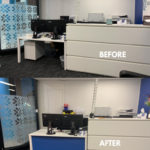 Corflute signage solution for front office reception