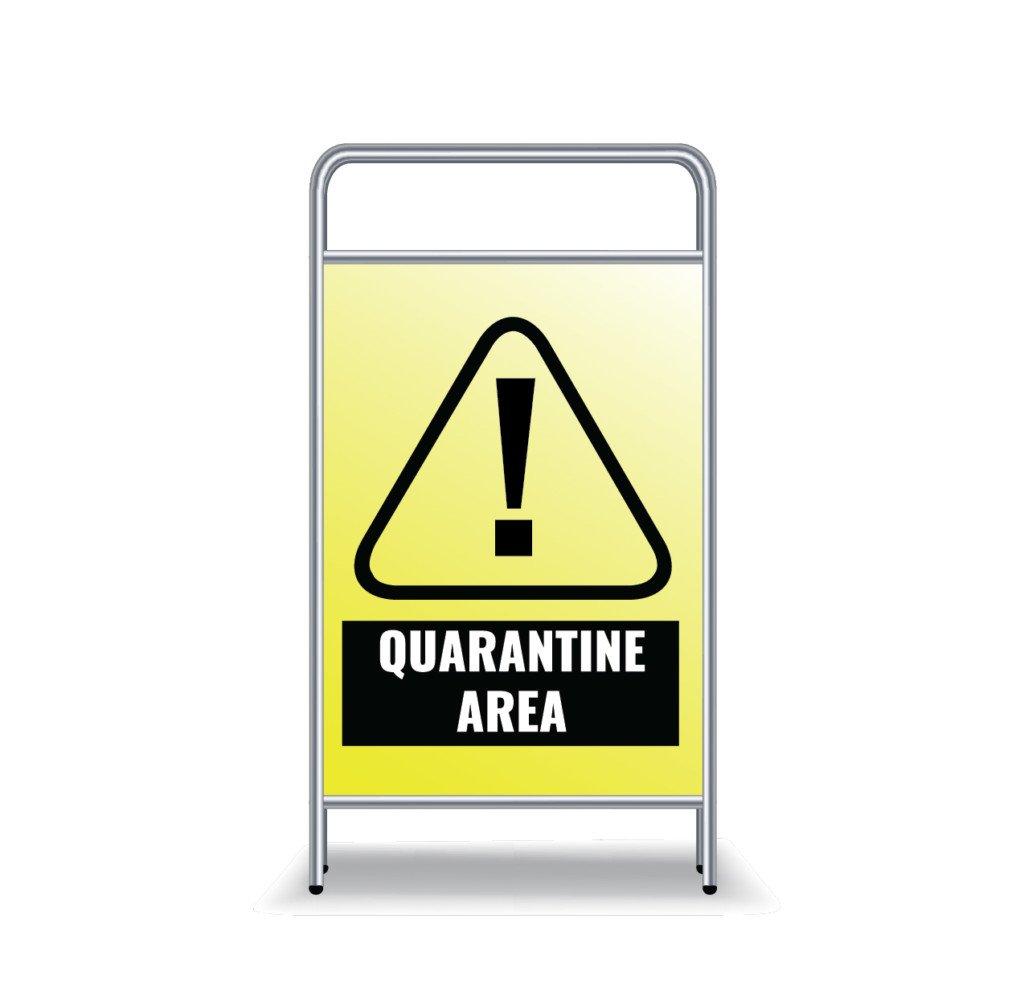 Coronavirus Signage Prevention Quarantine A Frame 01