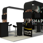 Curved booth display large