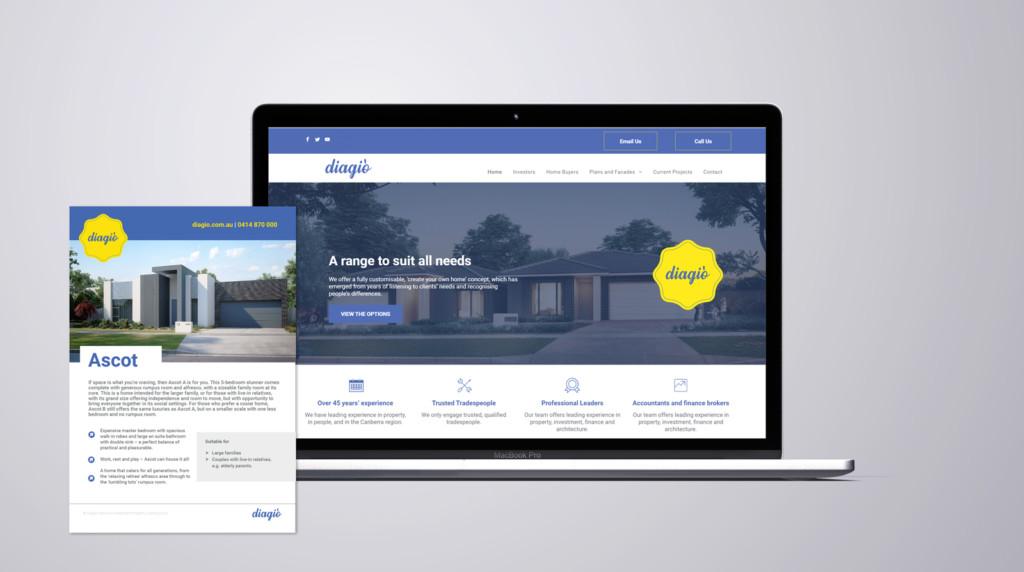 Diagio Home Constructors Website And Brochure