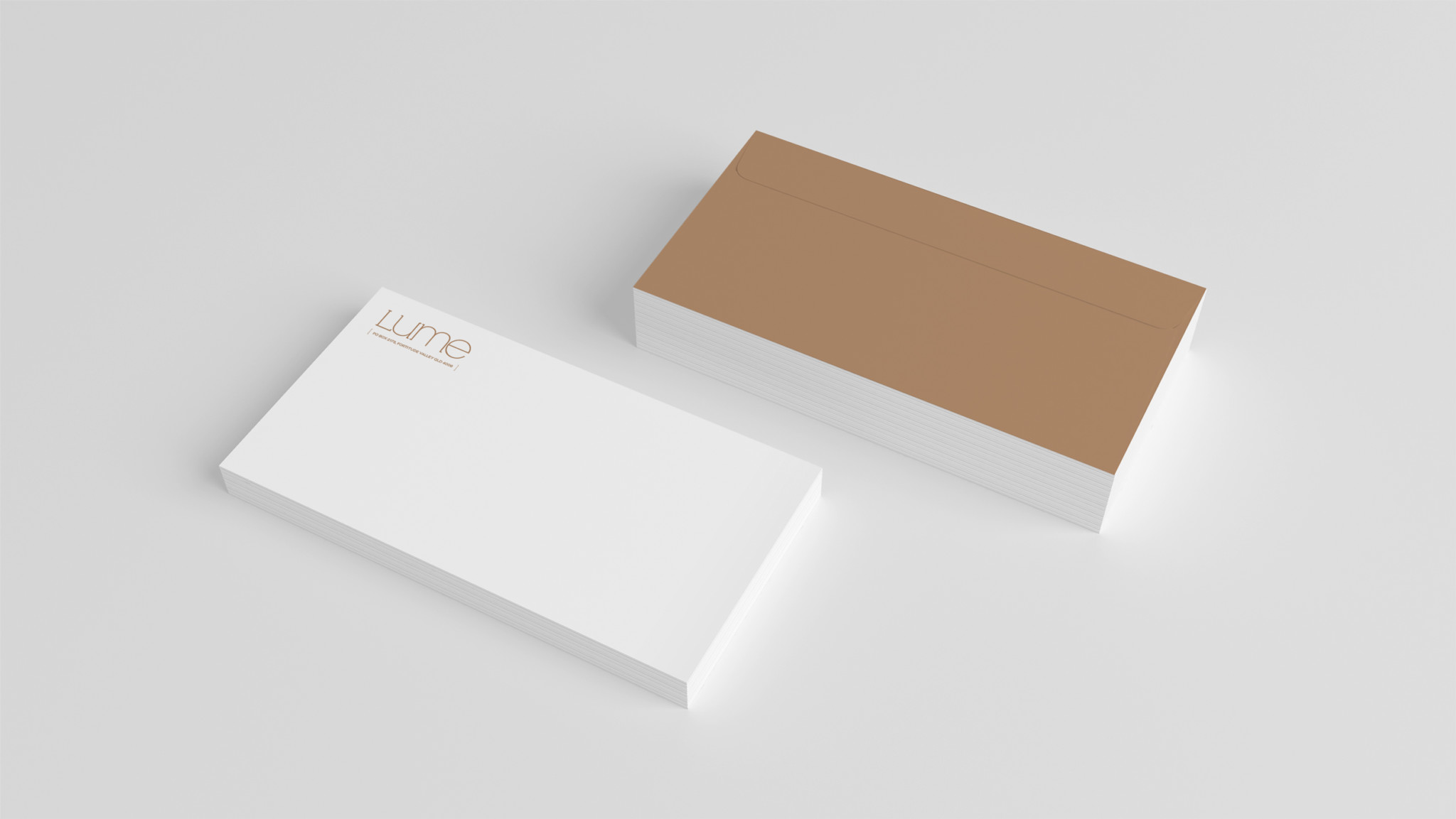 Envelope layout design