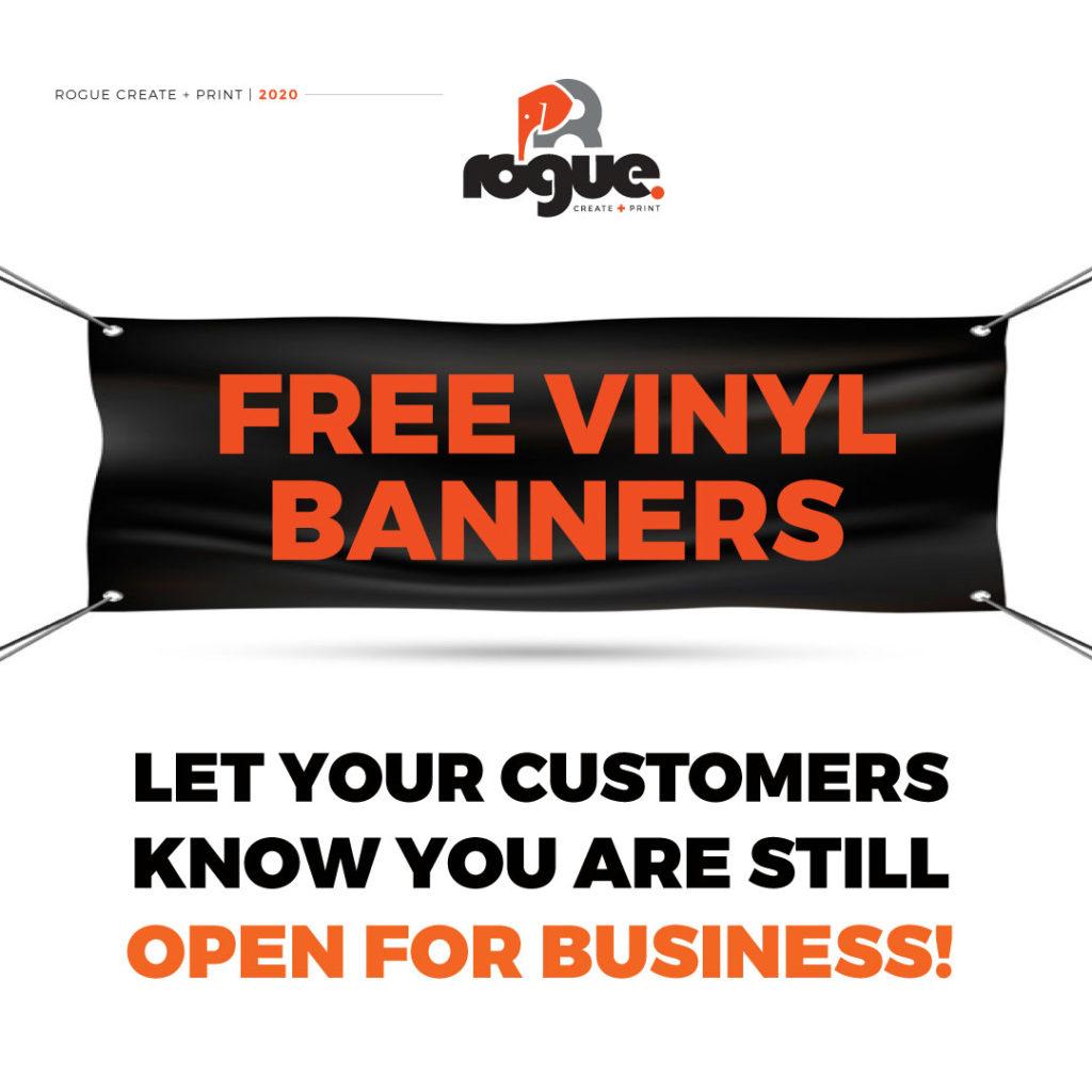Free Vinyl Banner Offer Insta