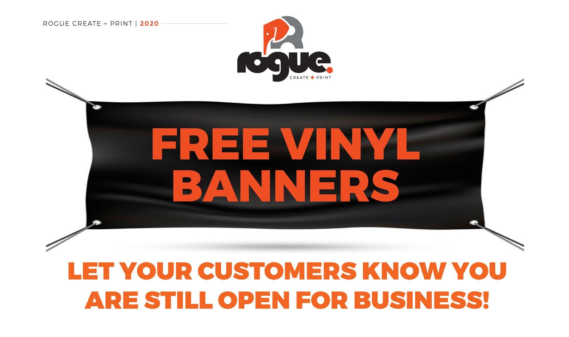 Free Vinyl Banner Offer Web Image
