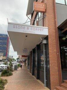 Facsia signage print and install stone and copper brisbane