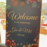 A2 sized wedding sign printed on corflute