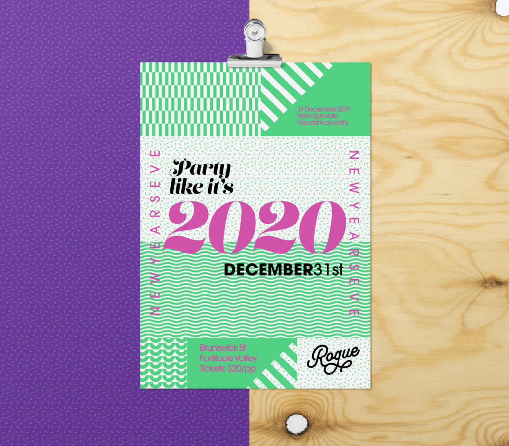 New Years Eve 2020 Poster Printing