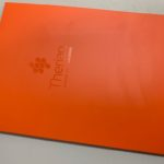 Presentation folder orange with clear spot uv
