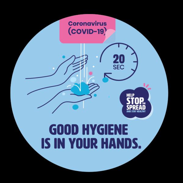 Round Stickers Good Hygiene Is In Your Hands Sticker
