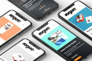 Web Design mobile UX UI design - Rogue Website design