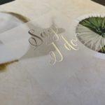 Silver foil brochure