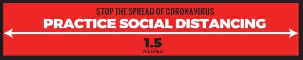 Social Distancing Floor Strip Practice Social Distancing 1500mm