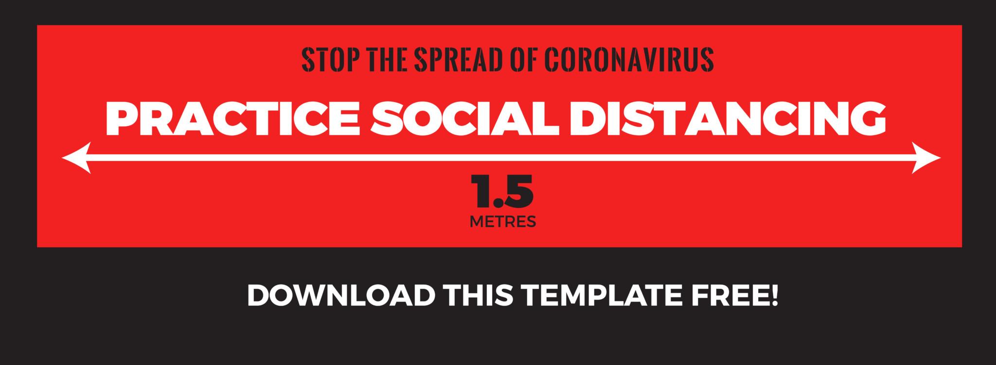 Social Distancing Floor Graphic Free Template Download