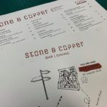Menu printed on digituff synthetic pro stock. Menu printing for Stone & Copper Brisbane Fortitude Valley