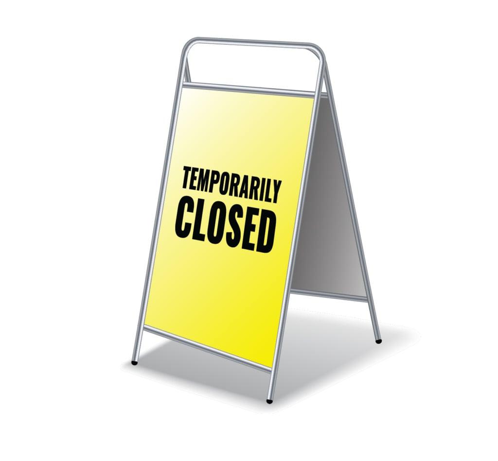 Temporary Closure Sign