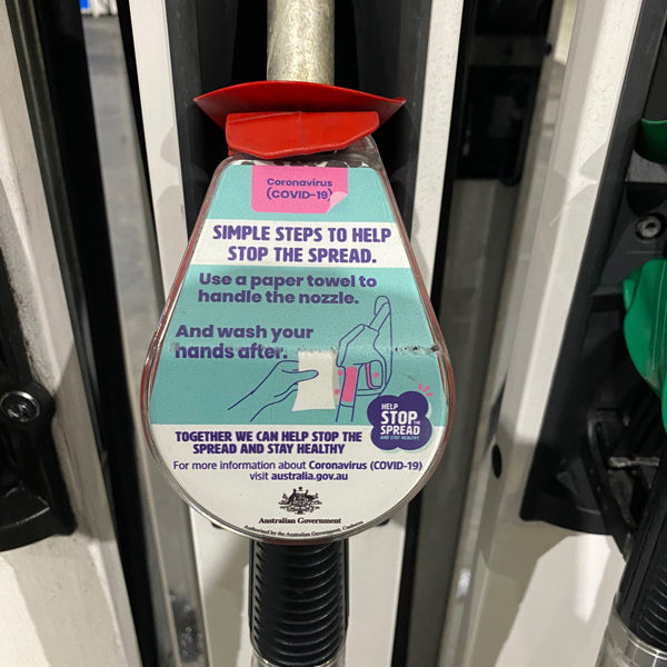 Use A Paper Towel To Handle The Nozzle Petrol Nozzle Covid19