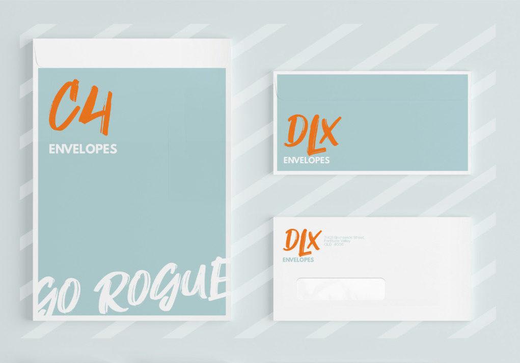 C4, DLX Envelopes Printed by Rogue Print Australia