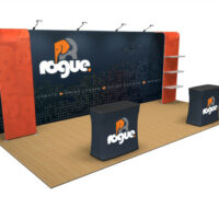 Rogue exhibition build displays