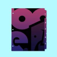 Custom Printed tab dividers by Rogue