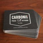 Printed Drink Coasters Restaurant Cafe