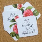 Printed Drink Coasters Weddings