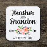 Printed Drink Coasters Events Weddings