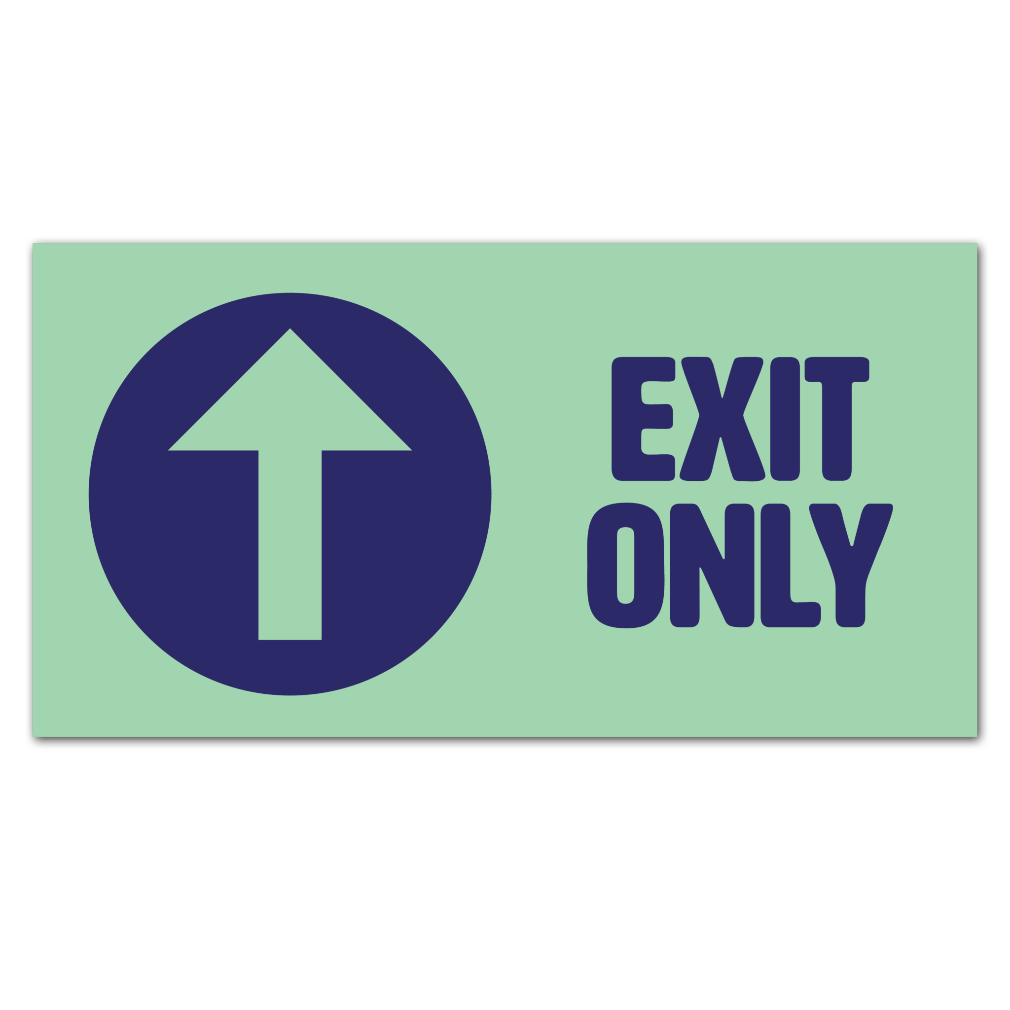 Covid 19 Exit Only Floor Sticker