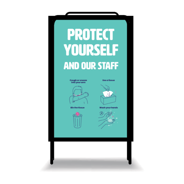Covid 19 Protect Yourself And Our Staff A Frame