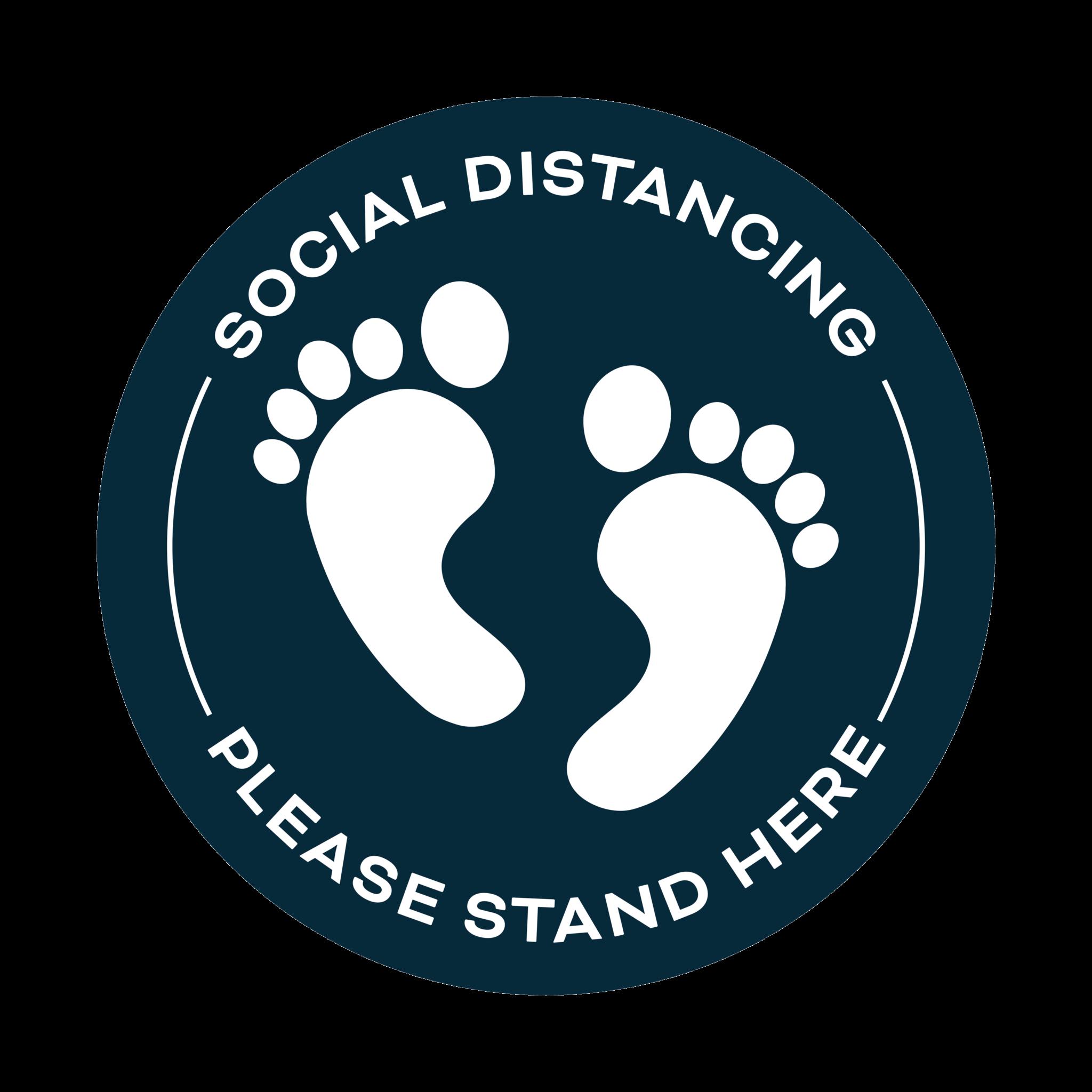 Covid 19 Social Distancing Floor Sticker Blue
