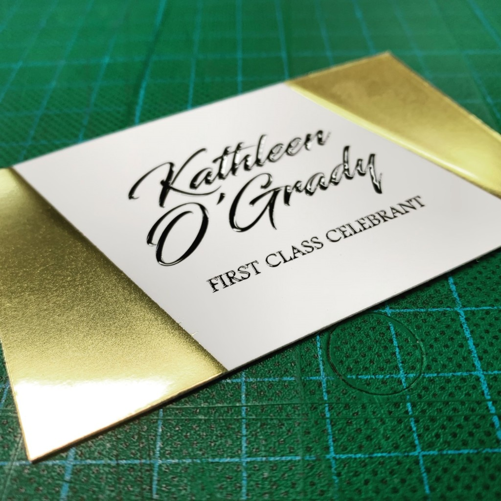 Buiness Card with gold foil and spot uv varnish