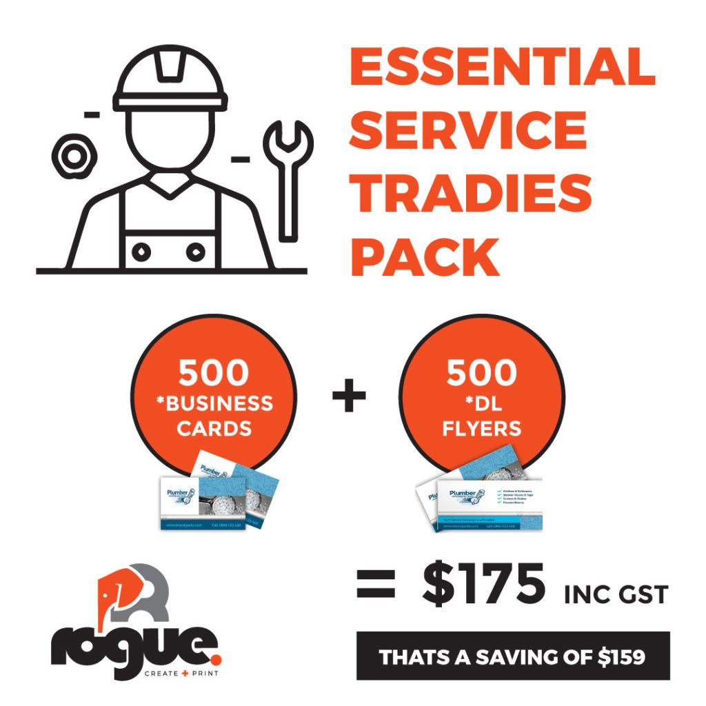 Tradies Pack | 500 business cards and 500 DL postcards